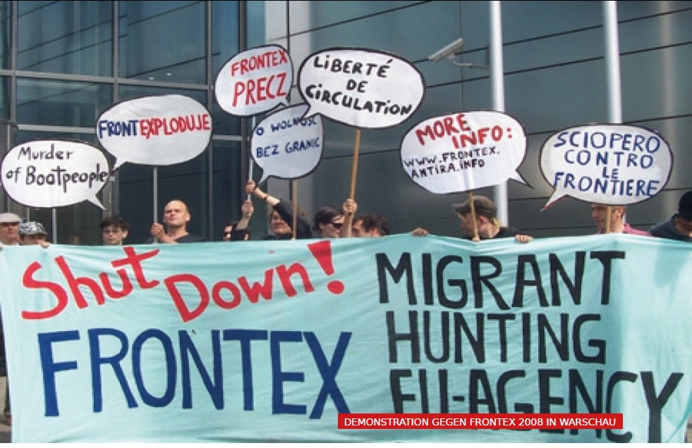 demonstration gegen frontex 2008
