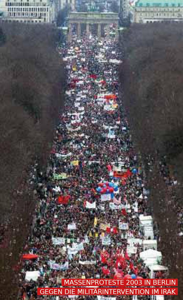 massenproteste gegen den irak krieg 2003