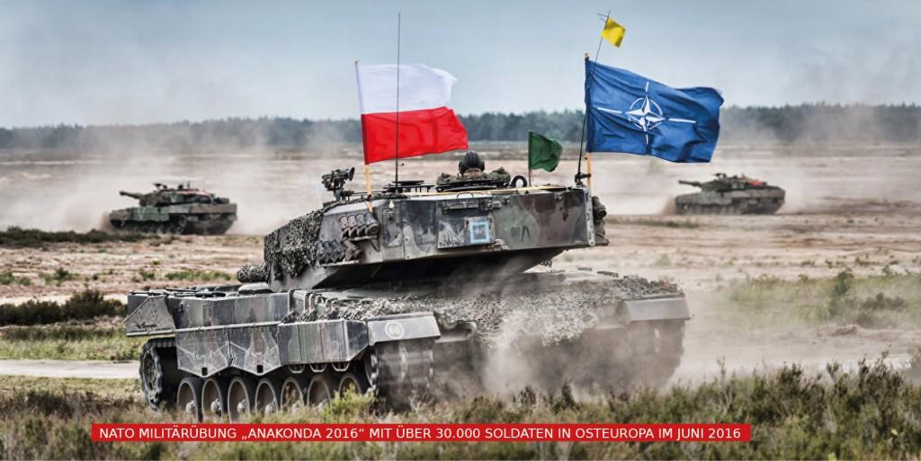 nato militärübung anakonda 2016 in osteuropa