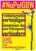 Freiheitsrechte verteidigen! Gemeinsam gegen neue Polizeigesetze!