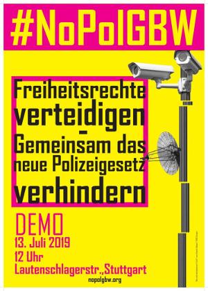 Gegen das neue Polizeigesetz!