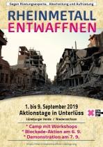 Rheinmetall Entwaffnen Aufruf, Anfahrt und Co.