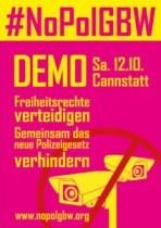 #NoPolGBW – Aktionswochenende am 12. und 13. Oktober in Baden-Württemberg