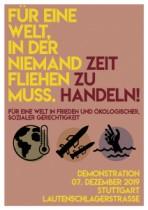 """Demo am 7.12: """"Für eine Welt, in der niemand fliehen muss – Zeit zu Handeln"""""""